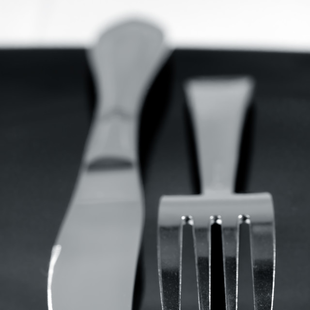 """""""Knife and fork"""" stock image"""
