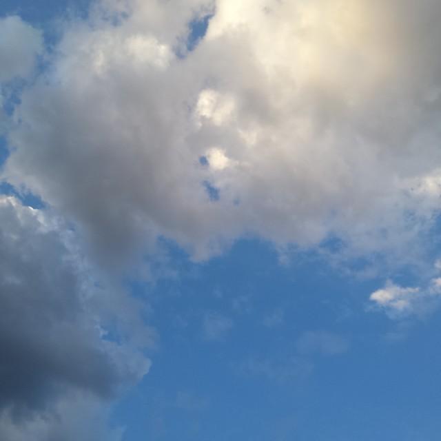 """Autumn Morning Cloudy Sky"" stock image"