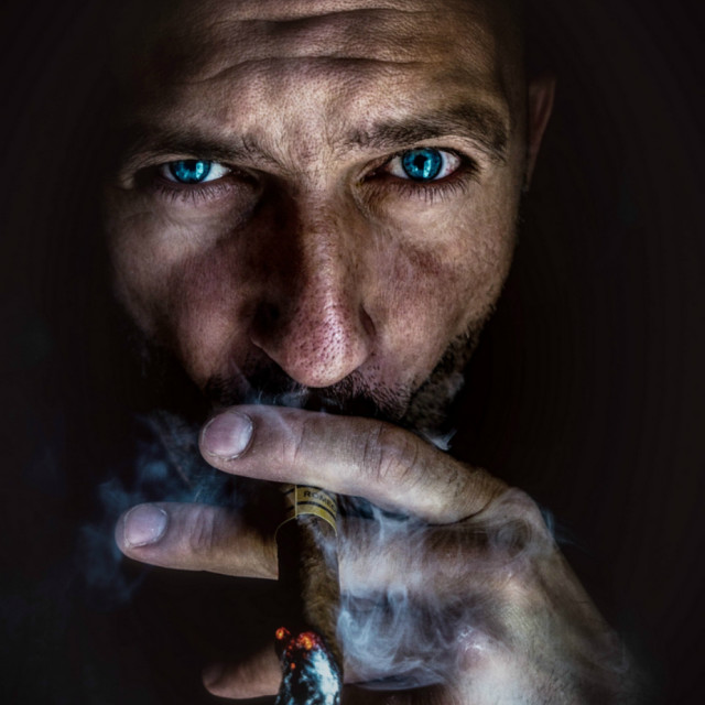 """SMOKER"" stock image"