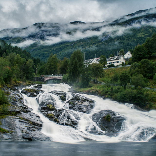 """Hellesylt, Norway"" stock image"