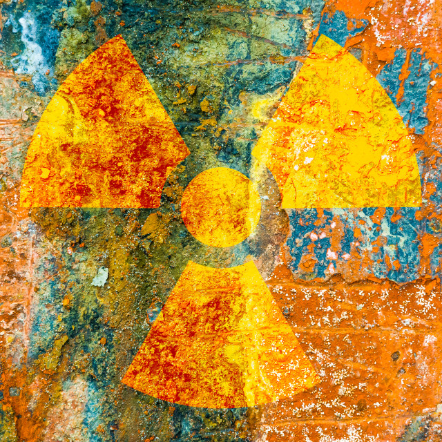 """""""Ionizing Radiation Symbol"""" stock image"""