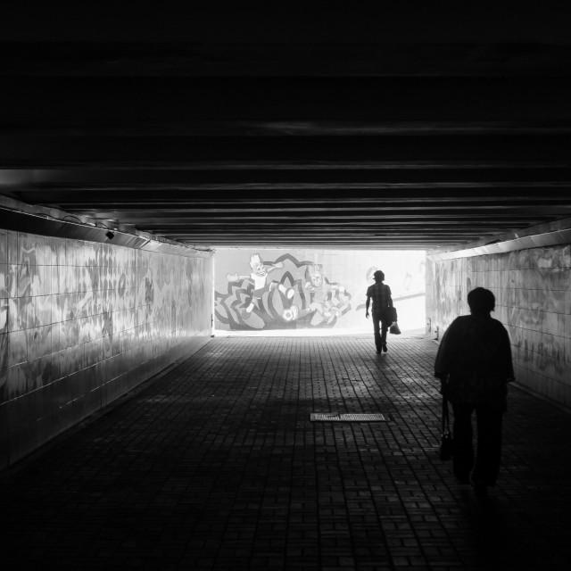 """Dark Underpass"" stock image"