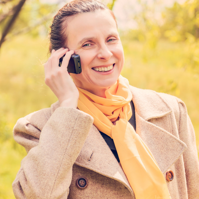 """""""Businesswoman with Phone"""" stock image"""