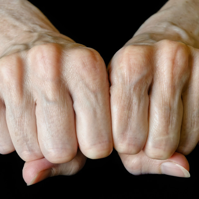 """Woman's fists"" stock image"