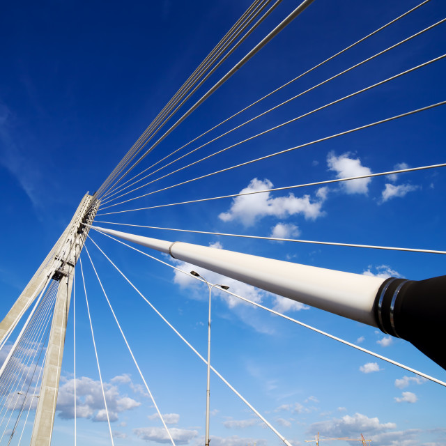 """Suspension Bridge Contemporary Shape"" stock image"