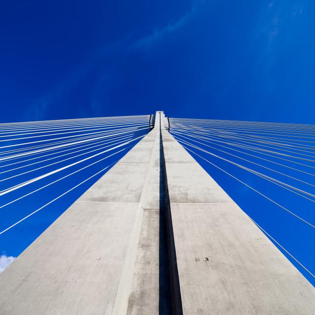 """Suspension Bridge Pylon"" stock image"