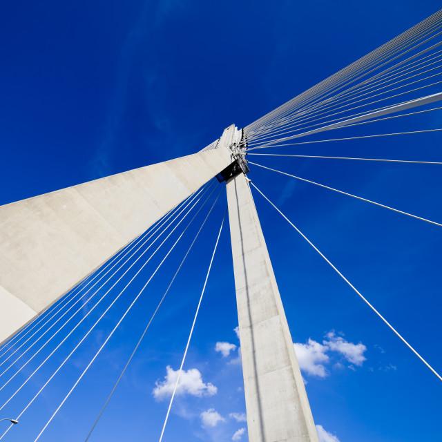 """Suspension Bridge Abstract Architecture"" stock image"