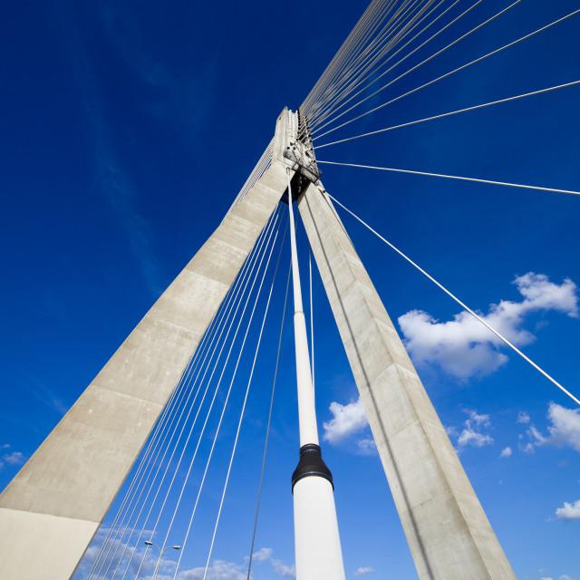 """Suspension Bridge Contemporary Shape"" stock image"