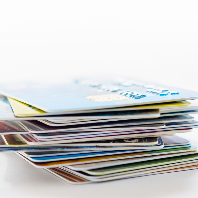 """Many Credit Cards"" stock image"
