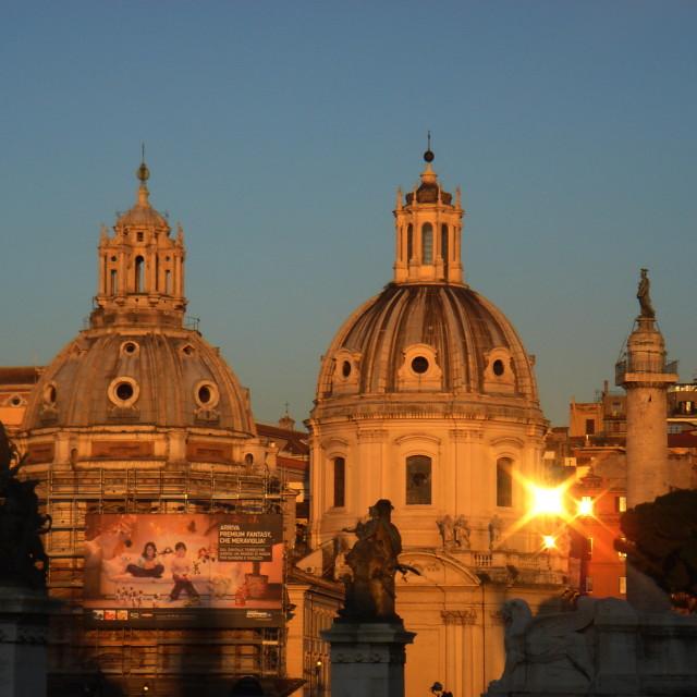 """Rome Sunset"" stock image"