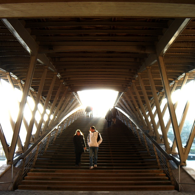 """Seine Bridge"" stock image"