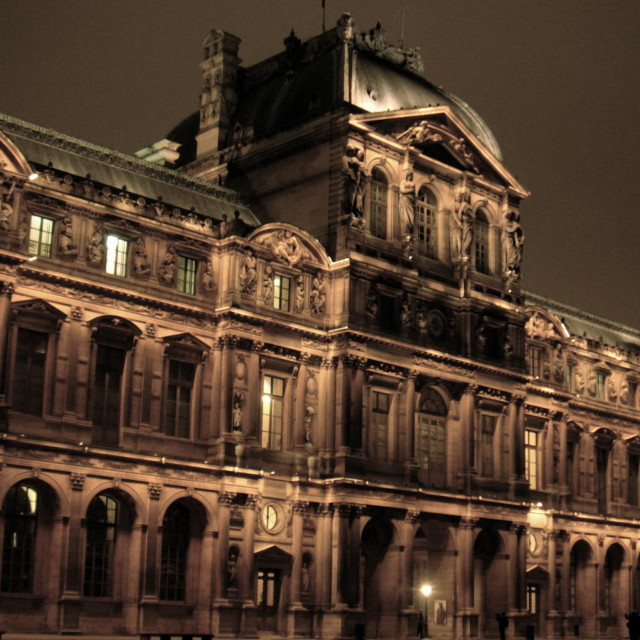 """Night Louvre II"" stock image"