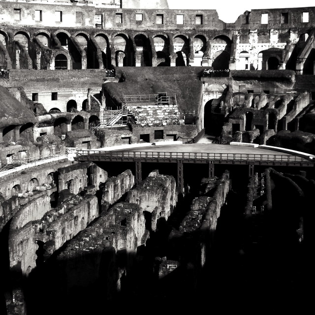 """Colosseum Interior"" stock image"