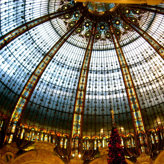 """Galeries Lafayette"" stock image"