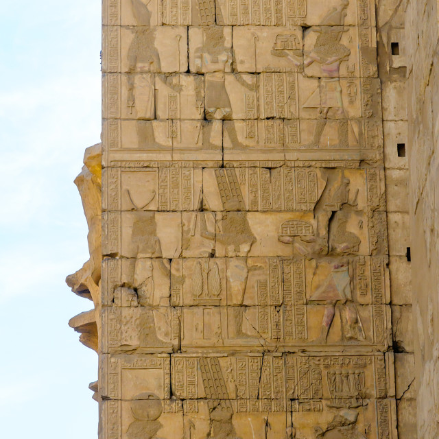 """Karnak temple in Luxor, Egypt, Detail"" stock image"