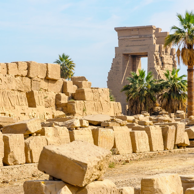 """Karnak temple in Luxor, Egypt."" stock image"