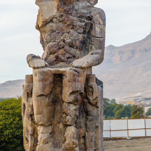 """Colossi of Memnon in Luxor in Egypt"" stock image"