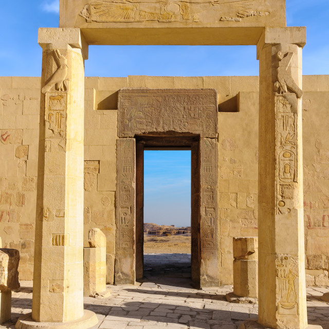"""Hatshepsut Temple in the Valley of the Kings"" stock image"