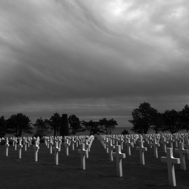 """American Cemetery II"" stock image"