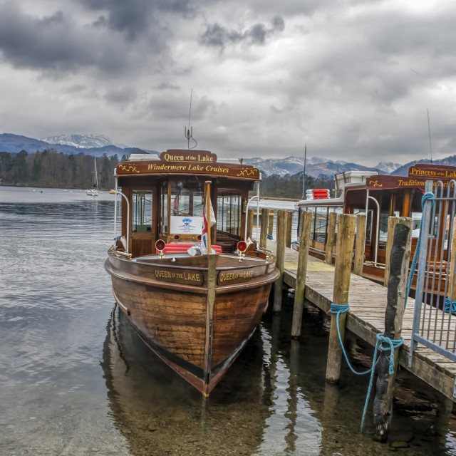 """Lake Windermere Boats"" stock image"