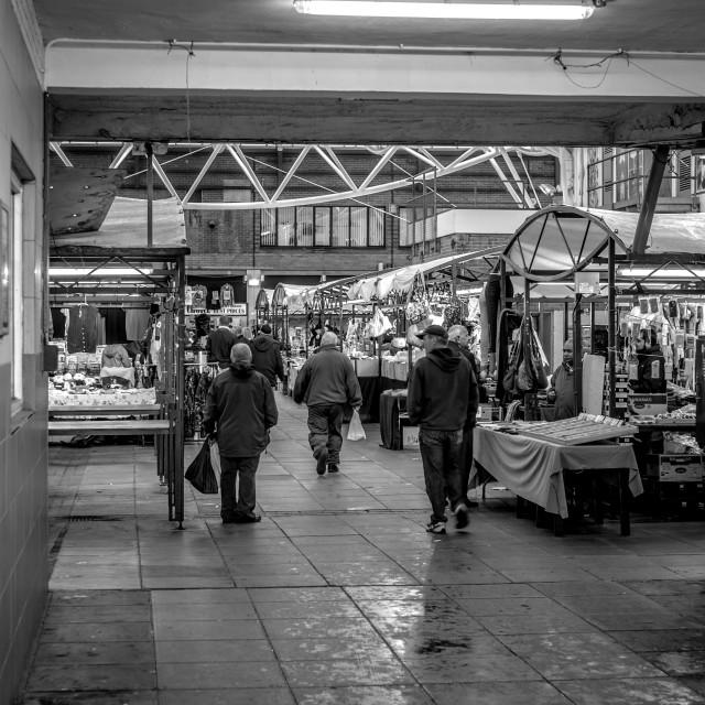 """""""Rotherham Indoor Market ."""" stock image"""