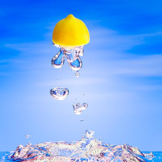 """""""Flying Lemon"""" stock image"""