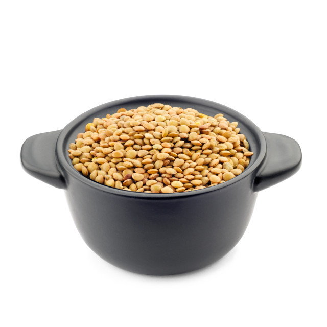 """""""Lentils in a Black Cup"""" stock image"""