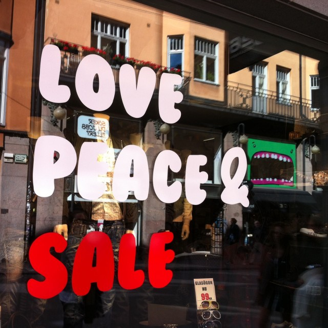 """""""Love and Peace Sale"""" stock image"""