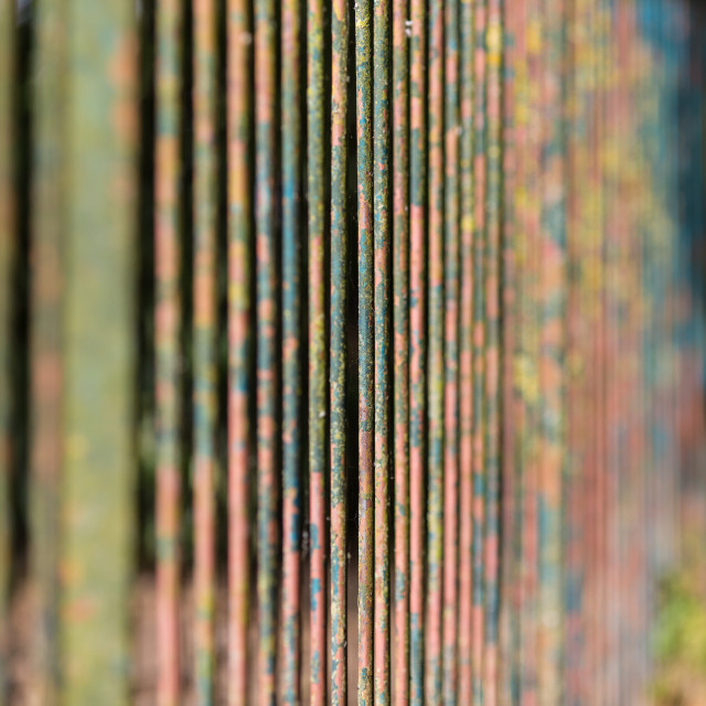"""Rusting Fence"" stock image"