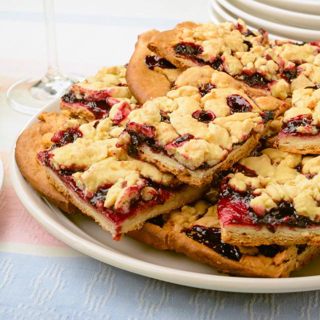 """Blackberry Grated Pie"" stock image"