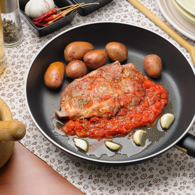 """""""Sliced Mutton Leg in Provencal Way"""" stock image"""