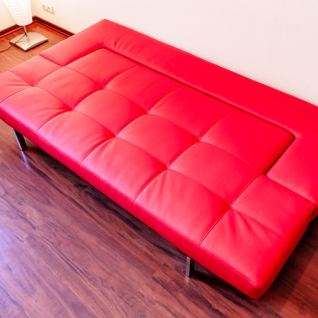 """Red Couch"" stock image"