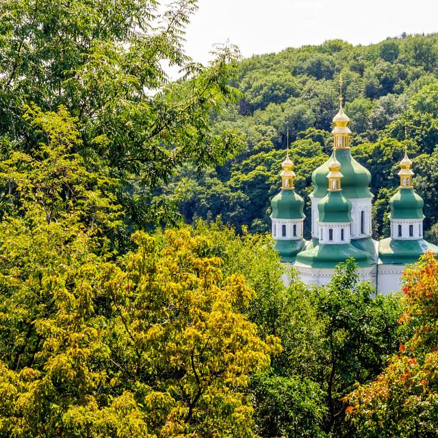 """Vydubitsky Monastery"" stock image"