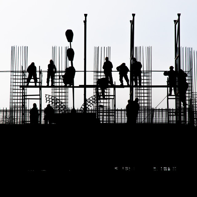 """Building worker"" stock image"