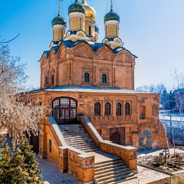 """Church of the Znamensky Monastery"" stock image"