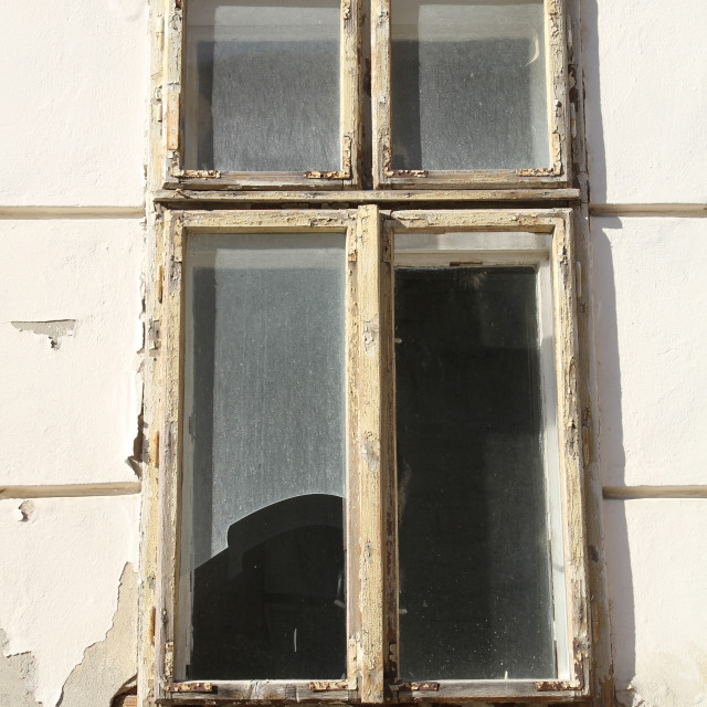"""Rotten window"" stock image"