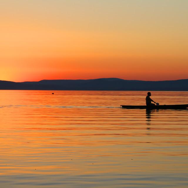 """""""Sunset at Lake Balaton"""" stock image"""