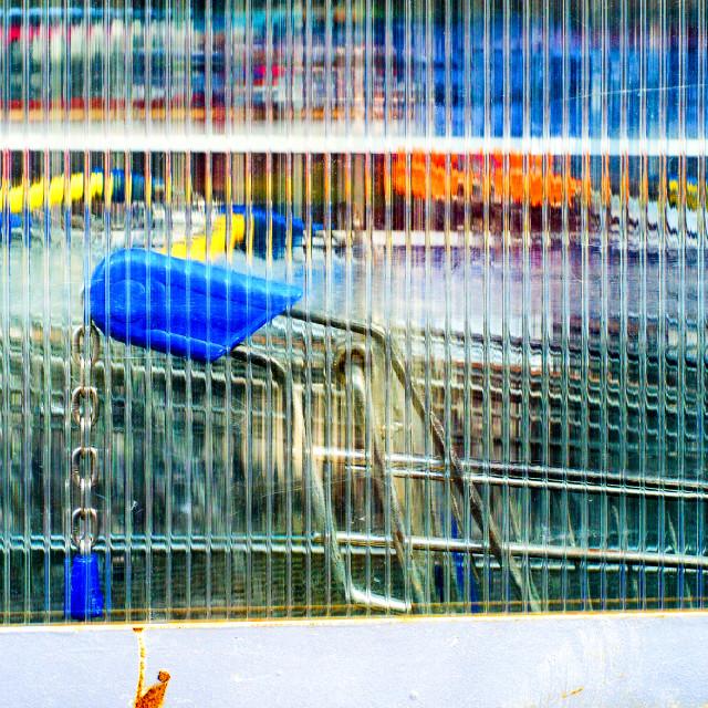 """Shopping trolleys"" stock image"