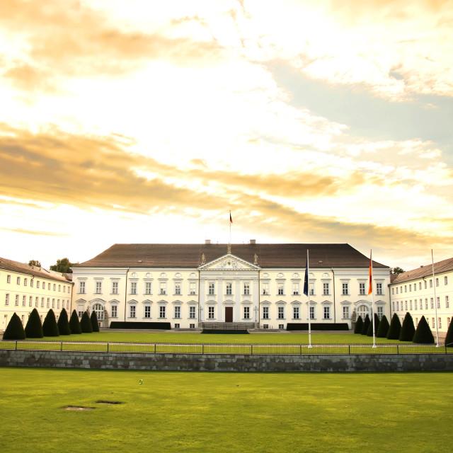 """Castle Bellevue in Berlin"" stock image"