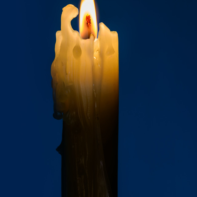 """Candle in the Night"" stock image"