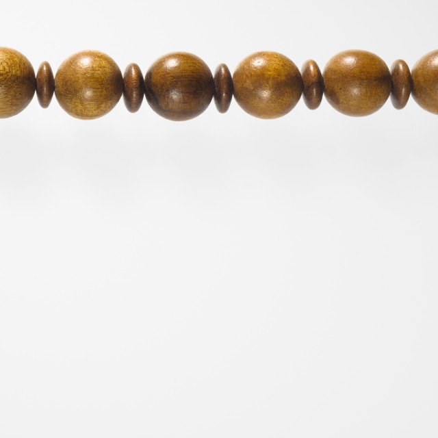 """Wooden beads Necklace"" stock image"