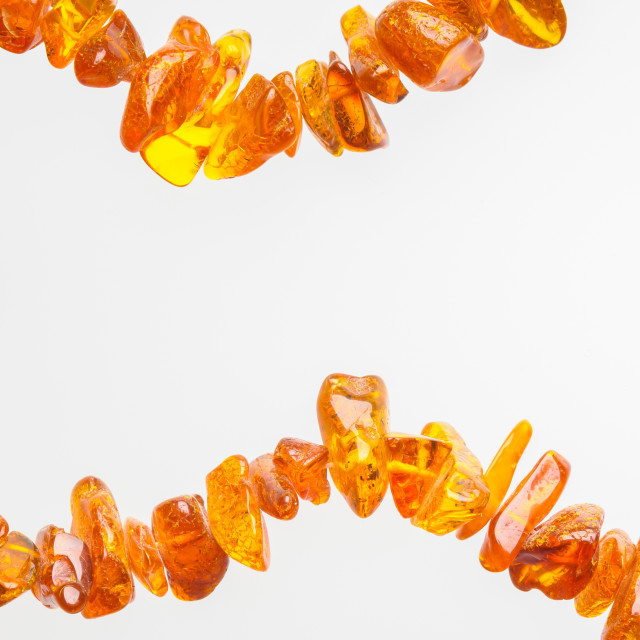 """""""Natural Amber Necklace"""" stock image"""