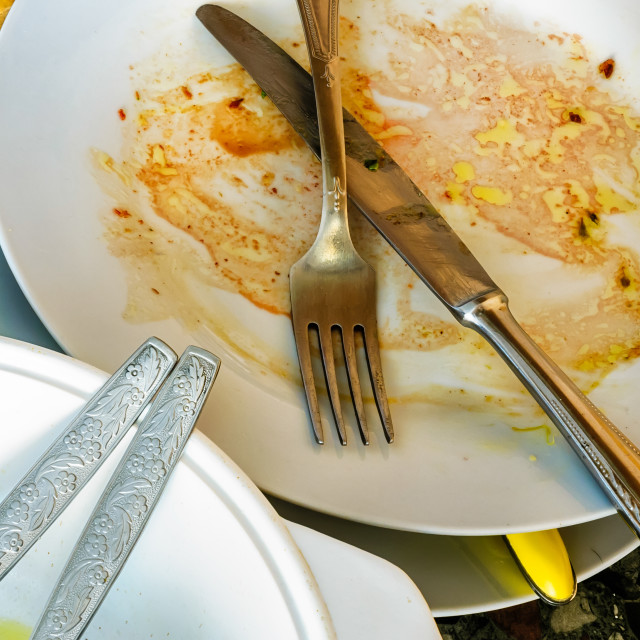 """""""Dirty Dishes"""" stock image"""