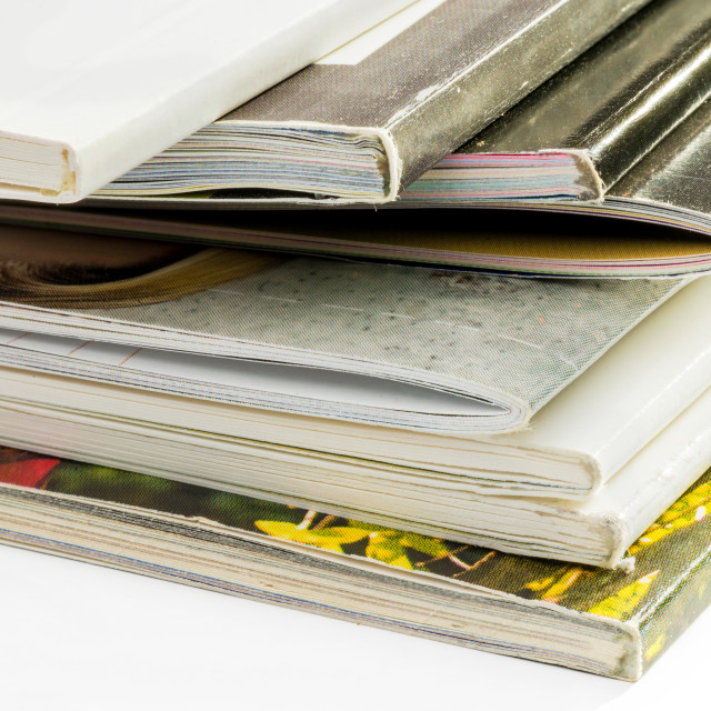 """""""Pile of Catalogs"""" stock image"""
