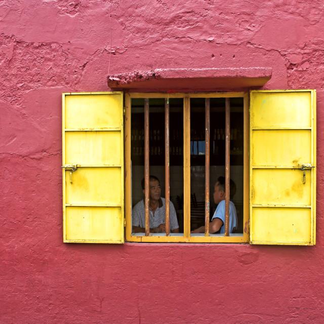 """THE YELLOW WINDOW"" stock image"