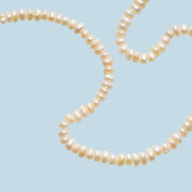 """Natural Pearls Necklace"" stock image"