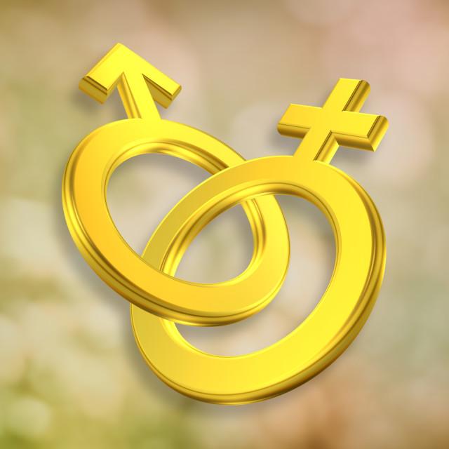 """Male and Female symbols"" stock image"