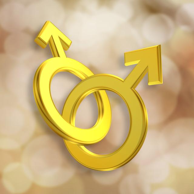 """Union of Male Symbols"" stock image"