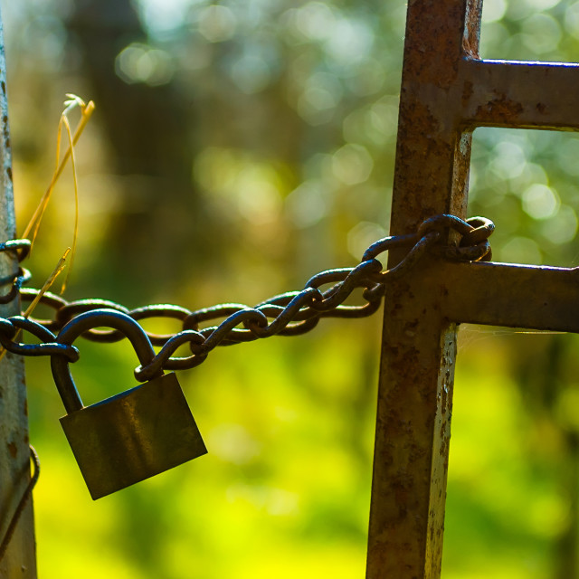 """""""Lock and Chain"""" stock image"""
