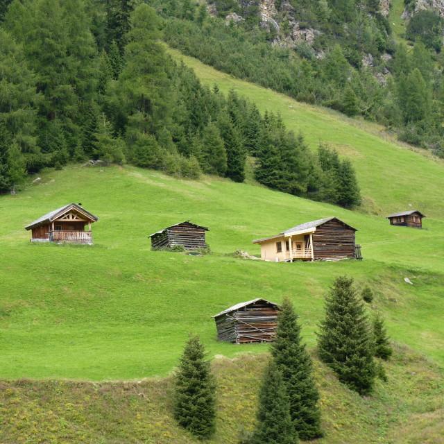 """""""Mountain barns"""" stock image"""